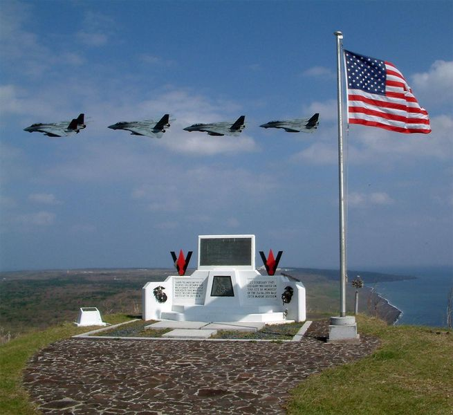 Iwo Jima Today - HQ224USMC Honoring the men of the HQ Company